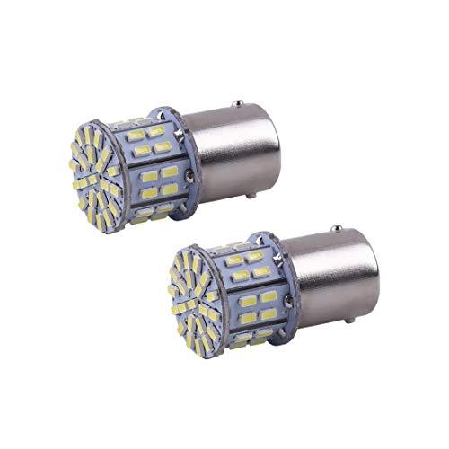 AutoBoy 2PCS Super Bright White 1156 1206 50-SMD 6000K Car LED Bulbs For Car Rear Turn Signal lights Interior RV Camper DC 12V