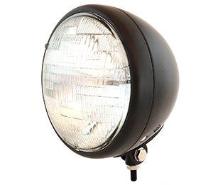 7 Bottom Mount Headlight Motorcycle Custom Spotlight - Matte Black Clear