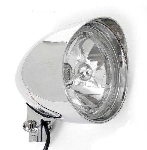 Chrome Billet Custom Headlight 5-34 Tri-Bar DOT for Harley Motorcycles Tribar