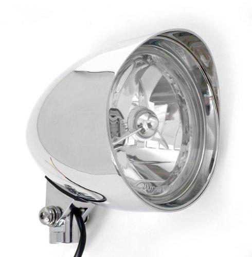 Chrome Billet Custom Headlight 5-34 Tri-Bar DOT for Metric Motorcycles tribar Honda Yamaha Kawasaki Suzuki