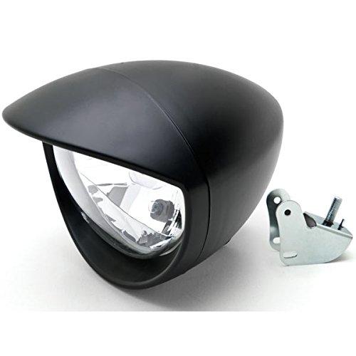 Krator Motorcycle Custom Black Headlight Head Light For Honda VT Shadow Spirit Velorex Deluxe 600 750 1100