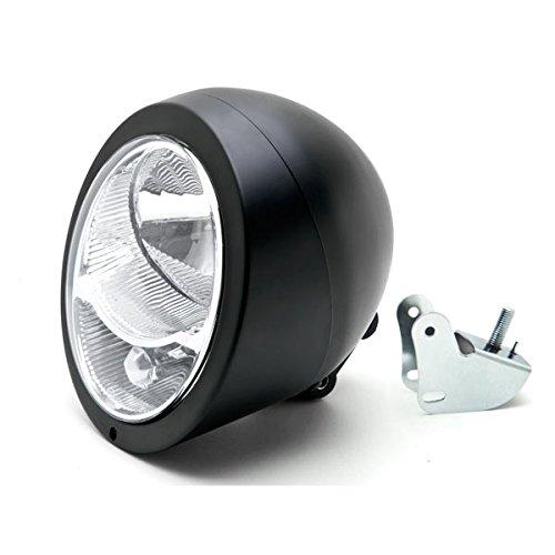 Krator Motorcycle Custom Black Headlight Head Light For Yamaha Road Star Warrior Midnight XV