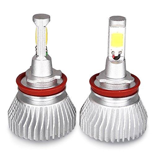 GZYF Pair 60W 6000LM H11 LED Headlight Kit Beam Light Bulb 6000K Head Light