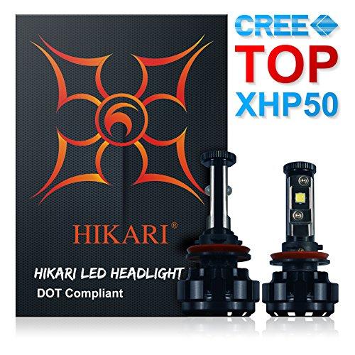 HIKARI LED Headlight Bulbs Conversion Kit -H11H8H9CREE XHP50 9600lm 6K Cool White2 Yr Warranty