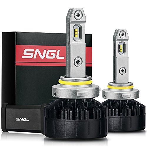 SNGL Super FocusBeam LED Headlight Kit - Adjustable Bulbs - 9005  H10  9145  HB3  - 5500K Daylight White - 2 Yr Warranty