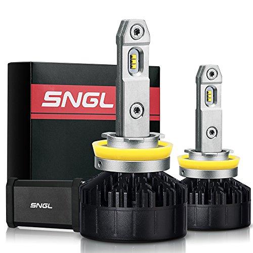 SNGL Super FocusBeam LED Headlight Kit - Adjustable Bulbs - H11  H9  High Beam LED - 5500K Daylight White - 2 Yr Warranty