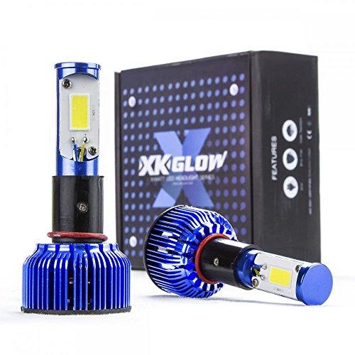 60 Watt H11 6000k Bright White LED Headlight Conversion Kit Replacement Bulbs