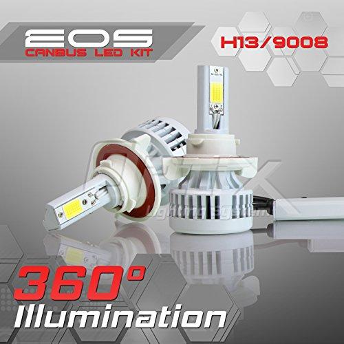 Optix 80W 8000LM LED Headlight Conversion Kit - H13 9008 Dual High  Low Beam Bulbs - 6000K 6K Diamond White - Premium Epistar COB Chip - Canbus Chip Error Free No Flicker Plug and Play Design