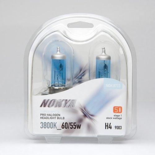 Nokya H49003 Headlight Bulbs — White 3800K 6055W Stage 1