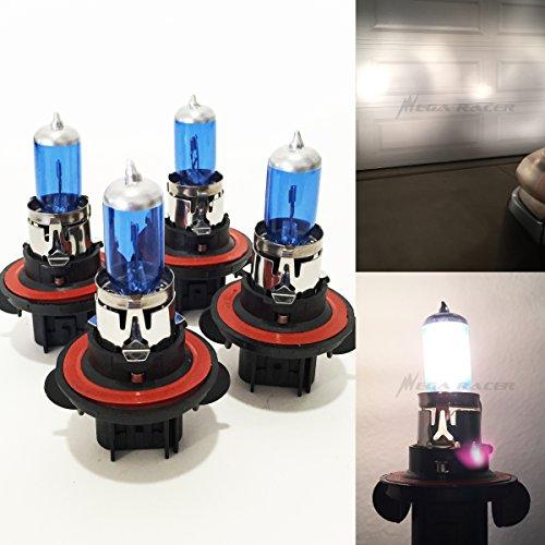 2 Pair H13 9008 10090W White 5000K HighLow Beam Xenon Halogen Headlight Lamp Light Bulb Replace Stock OEM Car USA