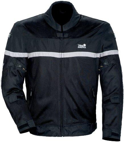 Tourmaster Draft Air Series 2 Mens BlackWhite MeshTextile Jacket - Small