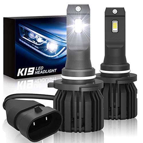 9005HB3 Led Headlights Bulbs SUPAREE K19 Single Beam Headlamp with Fan 9600lm 6000K Cool White High BeamLow BeamFog Light Bulb 2 Pack
