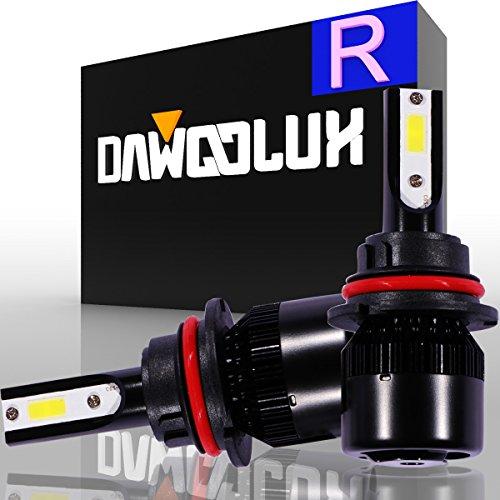 DawooLux 9004HB1 LED Headlight Kits-Flip COB Chips-60W 6400LM 6500K-Dual HiLo Beam Bulbs