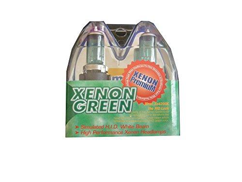 Max 9004 High Intensity Xenon Green Headlight Bulbs 1 pair