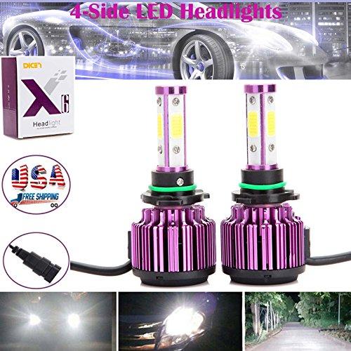 200W 9006HB49012 LED Headlight Conversion Kit COB Beam High or Low Beam Bulbs Plug Play - 2 Year Warranty