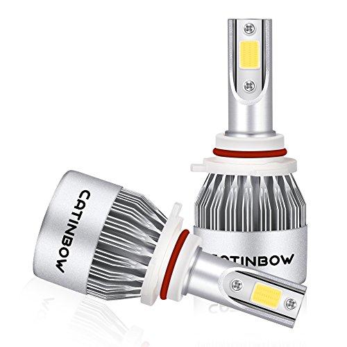Catinbow LED Headlight Bulbs 9006 HB4 80W 8000LM All-in-One Plug Play LED Headlight Bulb Conversion Kit 6000K White - Pair