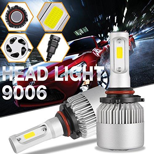 DJI 4X4 9006 HB4 LED Headlight Bulbs Kit LED Headlamp Advanced CREE Chips 100W 10000LM 6000K Cool White - 1 Pair