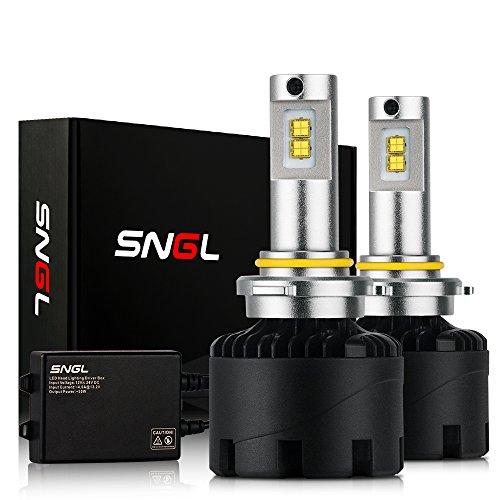 SNGL Super Bright LED Headlight Bulbs Conversion Kit - Adjustable-Beam - 9006  HB4  - 110w 12400Lm - 6000K Bright White - 2 Yr Warranty