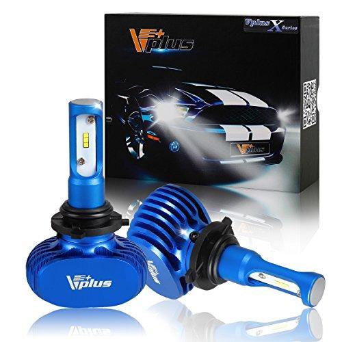 Vplus X Series LED Headlight Bulbs Lumileds ZES 2ndG Chip - 9006 HB4 100W 9000LM 6500K 8000K White LED Headlamp Conversion Replace HID Halogen - 2pcsset
