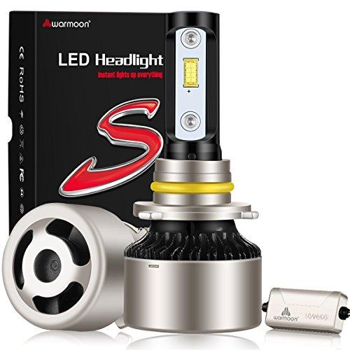 Warmoon 9006 led headlight bulbs45W 6000Lm 6500K Cool White Flicker-Free Super Bright Canbus-ready led headlight kit-3 Year WarrantyFits 9006 and HB4