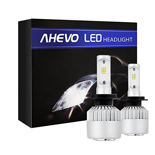 AHEVO H7 LED Headlight Bulbs 6500K 8000 Lumens Extremely Super Bright CSP Chips Conversion KitXenon White