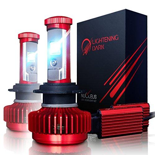 LIGHTENING DARK H7 LED Headlight Bulbs Conversion Kit CREE XPL 6K Cool White7200 Lumen - 3 Yr Warranty