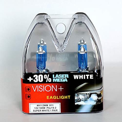 Aprilyy 2 X H11 100W 12V Car Headlight Lamp Halogen Light Super Bright Fog Xenon Bulb White Pack of 2