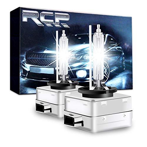 RCP - D3S6 - A Pair D3S D3R 6000K Xenon HID Replacement Bulb Diamond White Metal Stents Base 12V Car Headlight Lamps Head Lights 35W