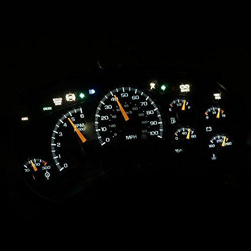 HERCOO LED Bulbs Kit Instrument Speedometer Gauge Lights for 2000-2002 Chevrolet GMC Trucks
