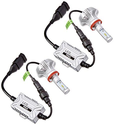 PIAA 26-17311 White H11 Platinum LED Bulb Kit 4000 lm 25W - 2 Yr Warranty 6000K