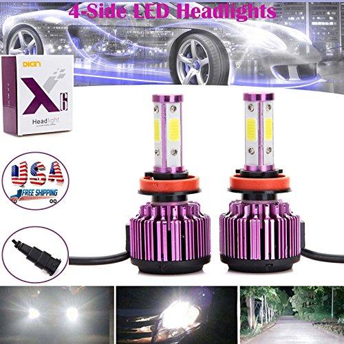200W H1198 LED Headlights Conversion Kit COB High or Low Beam Bulbs 20000LM Super Bright - 2 Year Warranty