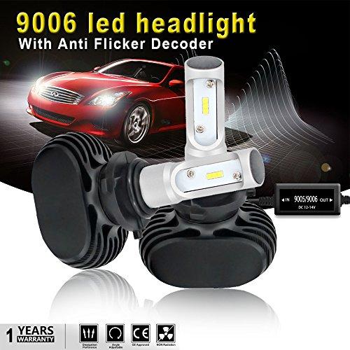AUSI HB4 9006 LED Headlight Bulb Low Beam Fog Light Bulb Conversion Kit Seoul Chip 8000Lm 6500K Headlamp Bulb  Anti Flicker Error Free Canbus Decoder For Toyota Chevrolet GMC Buick Chrysler Honda