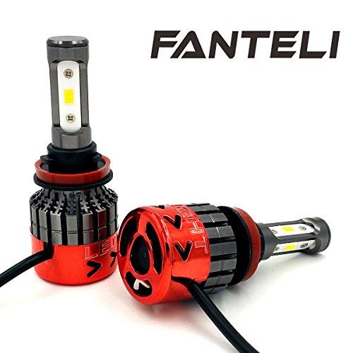 FANTELI H11 270W 27000LM 3-Sided Total 18PCS CSP LED Chips LED Headlight Kit HiLow Beam Bulb 6000K White High Power