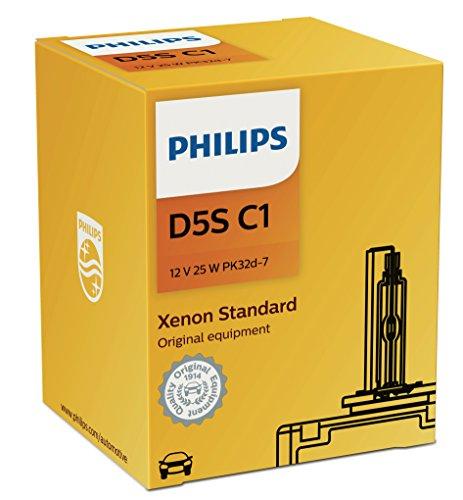 Philips D5SC1 Standard Authentic Xenon HID Headlight Bulb 1 Pack