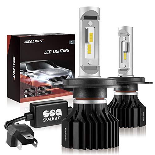 SEALIGHT H49003HB2 LED Headlight Bulbs X1 Series Dual HighLow Beam Xenon White 6000K 6000LM