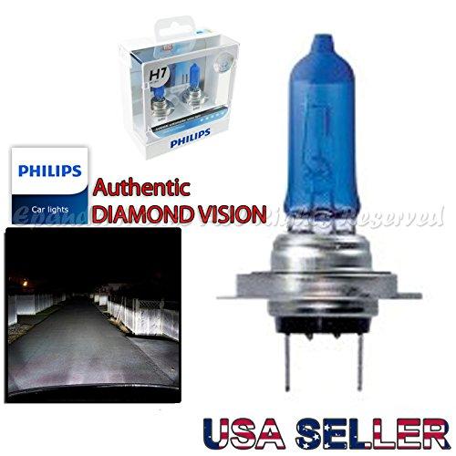 H7 USA 100 Philips Genuine Diamond Vision 5000K Low Beam Headlight Bulbs Xenon Upgrade For Euro Car