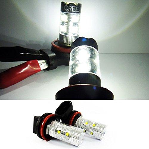 LEDIN 2x CREE XB-D H11 H8 Projector LED HL Low Beam Headlight Bulb 50W White