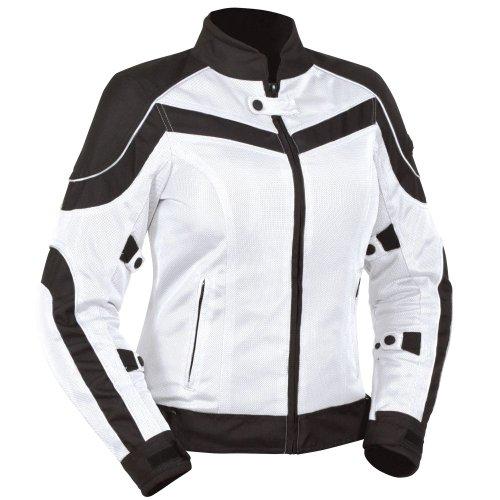 BILT Womens Techno Mesh Motorcycle Jacket - SM WhiteBlack