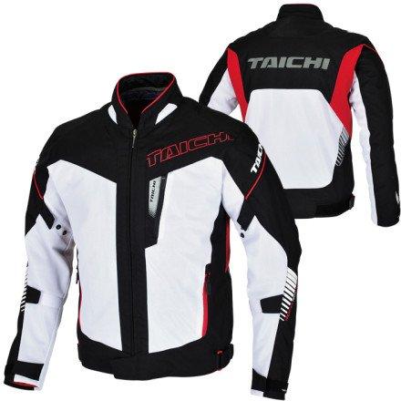 RS Taichi RSJ302 WHITE BLACK INGRAM MESH MENS JACKET LATEST SPRING SUMMER COLLECTION M
