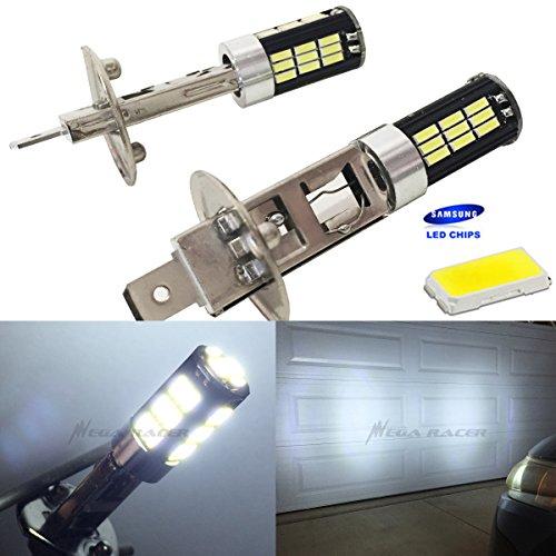 H1 Bright Chip LED 42-SMD Canbus Hyper White 6000K Headlight Light Bulb Low Beam - 12V Stock OEM Xenon Car USA Seller