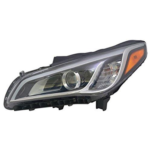 Driver Side Hid Headlight Assembly For Hyundai Asm Lh Hid 15-17 Sonata