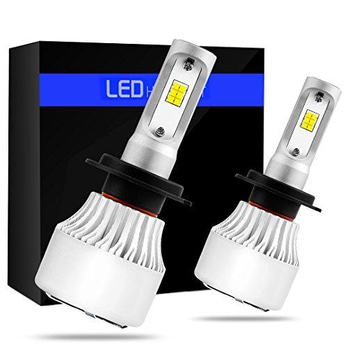 BEAMTECH H7 LED Headlight Bulbs 6500K 8000 Lumens Extremely Super Bright CSP Chips Conversion KitXenon White