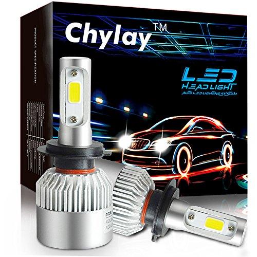 Chylay H7 LED Headlight Bulbs COB Chips Fog Light Conversion Kit High Beam 72W 8000LM 6500K White Auto Headlamp -1 Year Warranty H7 White