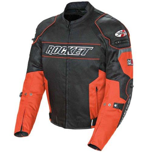 Joe Rocket Mens Mesh Resistor Motorcycle Jacket orangeblack large