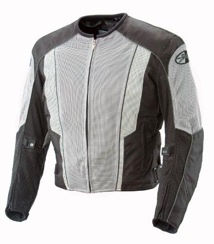 Joe Rocket Phoenix 50 Mens Mesh Motorcycle Riding Jacket GrayBlack Large