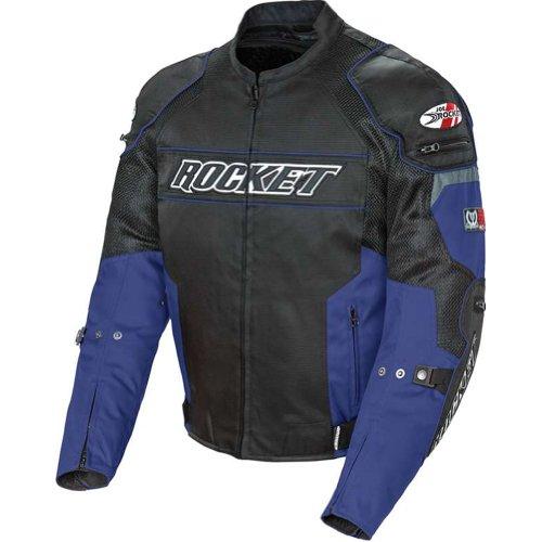 Joe Rocket Resistor Mens Mesh Motorcycle Jacket BlueBlack X-Large