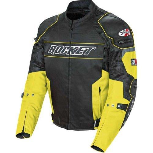Joe Rocket Resistor Mens Mesh Sports Bike Racing Motorcycle Jacket - YellowBlack  Large