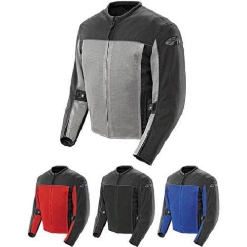 Joe Rocket Velocity Mens BlackRed Mesh Motorcycle Jacket - X-Large
