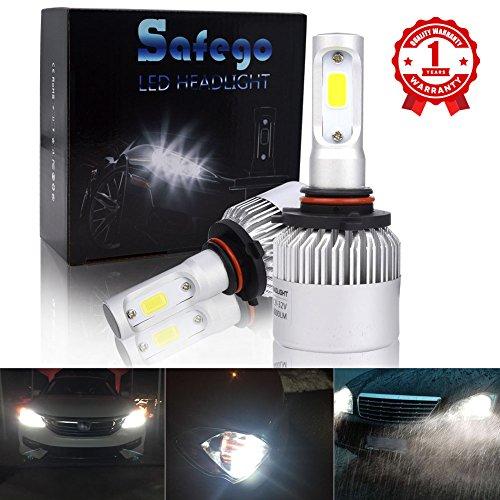 9005 LED Car Headlight Bulbs Kit - Safego 8000lm COB Chip Auto LED Light Conversion Kit 12v Replace for Car Halogen Lights or HID Bulbs S2-9005