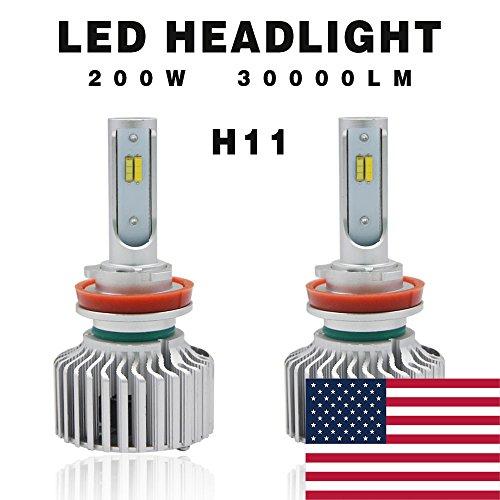 Globled 2x H11 H9 H8 H16 200W 30000LM Pair Canbus LED Headlights Bulbs Kit Beam Powerful 6000k White3000k Yellow Turbo Lamp Fog Lamps